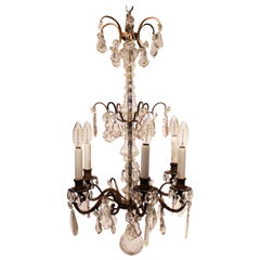 French Chandelier with Prisms from the 1940s