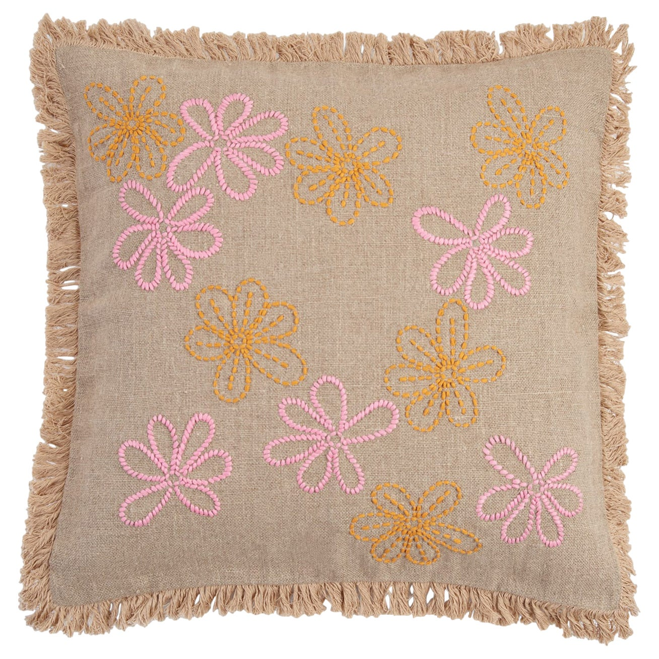 Stall, Hand Embroidered Floral Cushion by Jupe by Jackie