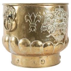Flower Pot Brass, Early 20th Century