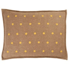 Broad Linen Hand Embroidered Cushion by Jupe by Jackie