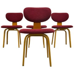 Set of 4 SB02 Combex Series Chairs by Cees Braakman for Pastoe, 1950s