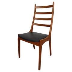4 Danish Modern Teak Ladder Back Dining Chairs by Kai Kristiansen, 1960s