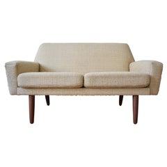 Danish Midcentury 2-Person Cream Sofa, 1960s