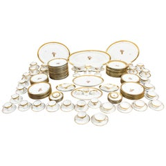 Royal Copenhagen Porcelain 166 Piece Golden Basket Dinner Service
