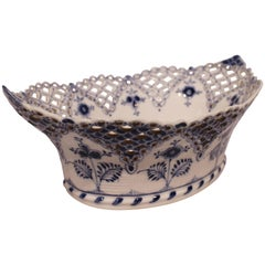 Royal Copenhagen Blue Fluted Lace Fruit Bowl, No. 1/6501