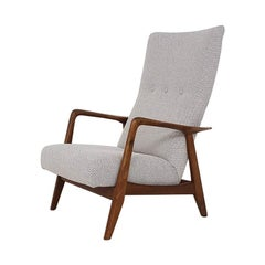 Teak Recliner Lounge Chair attributed Alf Svensson for DUX, Danish Modern 1960