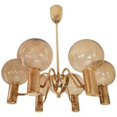 Hans-Agne Jakobsson Ceiling Lamp Model T372/6 Markaryd Sweden