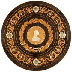 Decorative Intarsia Roundel in the Renaissance Style
