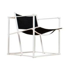 Minimalist Armchair in Black and White by Radboud Van Beekum for Pastoe, 1981