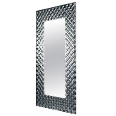 Glass Pearl Rectangular Mirror