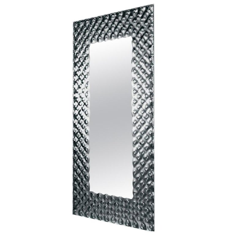 Glass Pearl Rectangular Mirror For Sale