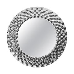 Glass Pearl Round Mirror