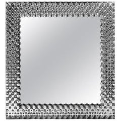 Glass Pearl Square Mirror