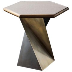 Transfer Side Table with Solid Bronze Base