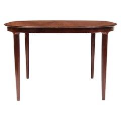Midcentury Danish Design Rosewood Extending Dining Table