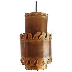 Svend Aage Holm Sorensen 2 Brutalist Ceiling Lamps 1960s for Holm Sorensen & Co