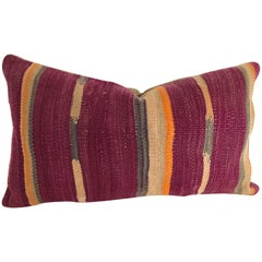 Custom Pillow Cut from a Vintage Moroccan Berber Wool Rug, Atlas Mountains