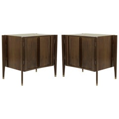 Bedside Tables by Jorgen Clausen in Rosewood, Denmark, 1950s