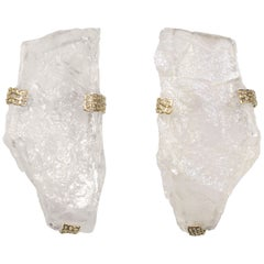 Natural Rock Crystal Sconces by Phoenix