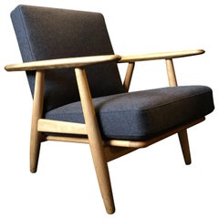 Hans J Wegner Cigar Chair, Model GE240, Reupholstered