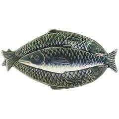 Majolica Fishs Platter Choisy Le Roi, circa 1880