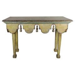 Painted Italian Midcentury Table with Tassels