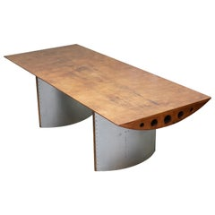 Rare One of a Kind Airplane Wing Aviator Refectory Dining Table
