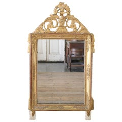 Antique Louis XVI Style Giltwood Mirror