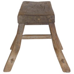 Primitive Elm Stool