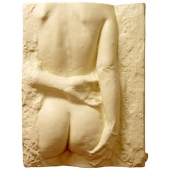 Mid-Century Modern George Segal Woman Plaster Relief Sculpture Nude Signed 1975