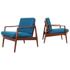 Mid-Century Modern Walnut Lounge Chairs