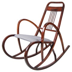 Thonet Rocking Chair No. 511 by M. Kammerer, Austria, circa 1905