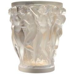 Lalique, Vase Bacchantes Crystal Clear, 1927