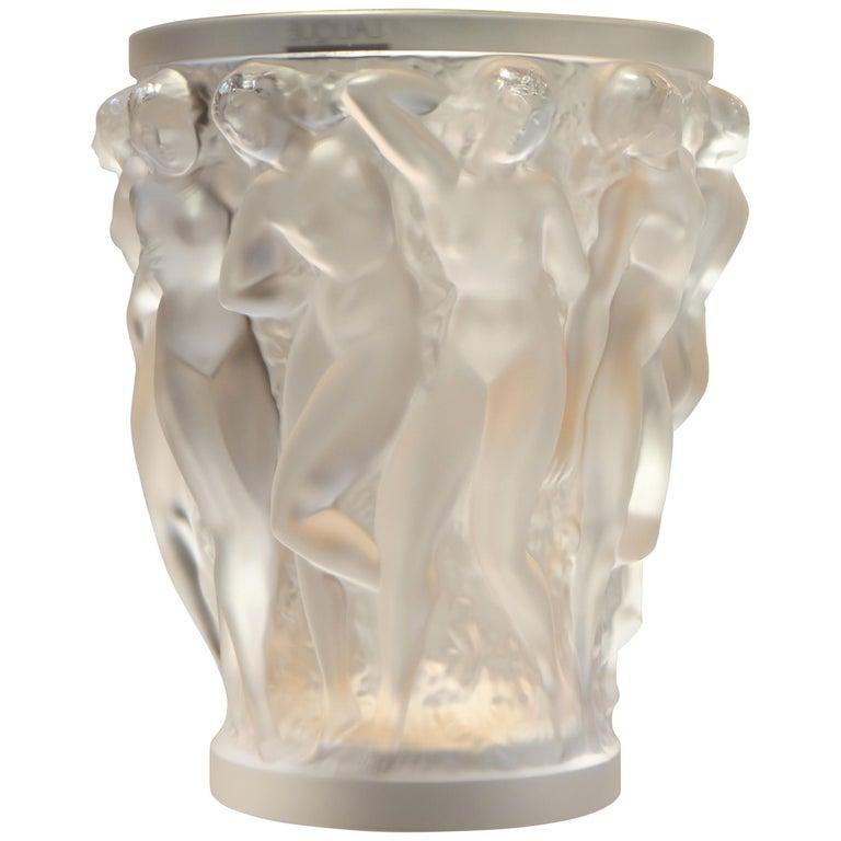 Lalique, Vase Bacchantes Crystal Clear, 1927 For Sale