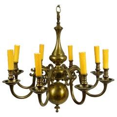 Early 20th Century Dutch Brass Chandelier