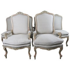 Set of 14 French Painted Louis XV Dining Chairs