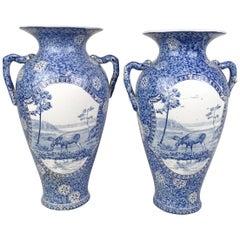 Art Nouveau Pair of Vases Moose Rörstrand Sweden