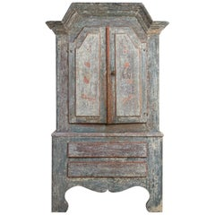 18th Century Swedish Folk Art Cupboard