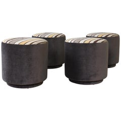 Four Upholstered Stools