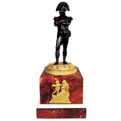 19th Century Bronze Statue of Napoleon Bonaparte