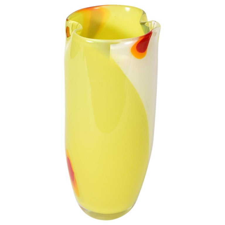 Mid Century Modern Murano Glass Vase For Sale At 1stdibs