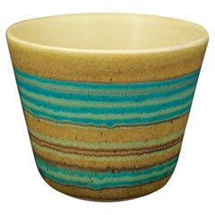 Fong Chow for Glidden Green Mesa Artware Stoneware Vessel Vase Cup