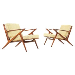 "Danish Modern ""Z"" Lounge Chairs by Poul Jensen for Selig"