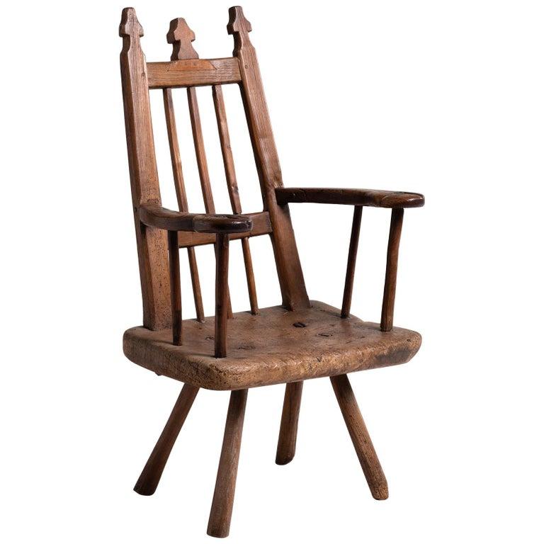 Primitive Armchair, England, circa 1820 For Sale