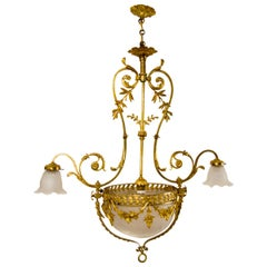 Belle Époque Style Gilt Bronze Chandelier