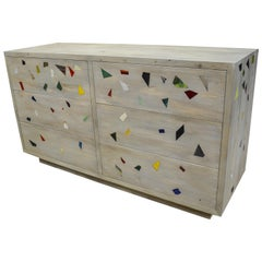 Westwater Old Pine and Colored Glass Confetti Commode