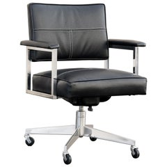 Vintage Steelcase Office Chair, Refinished in Black