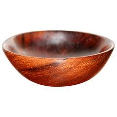 Rare Salisbury Artisans Turned Rosewood Bowl
