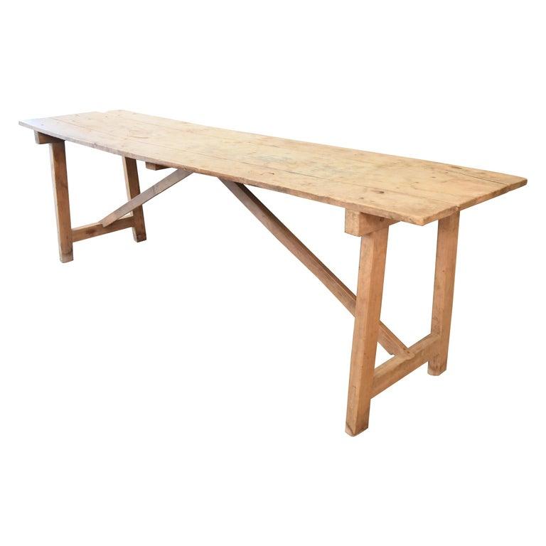 18 Jahrhundert Spanische Nussbaum Konsole Tisch Einen Frame Aus Der