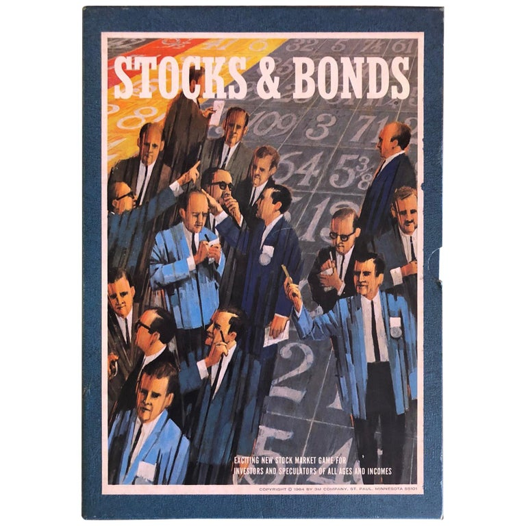 Midcentury Stocks and Bonds Board Game by 3M For Sale